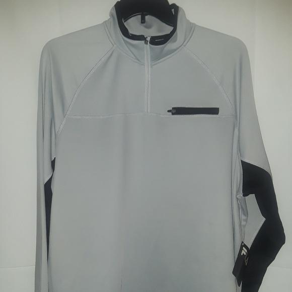 Fila Mens 4 Zip Pullover Xxl Grey